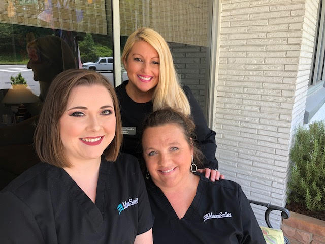 Three Female Staff Members at MaconSmiles.