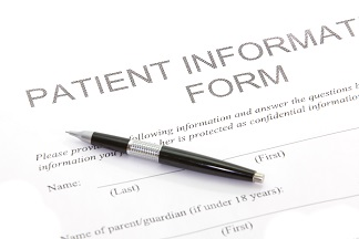 Picture of Patient Information Form and Pen